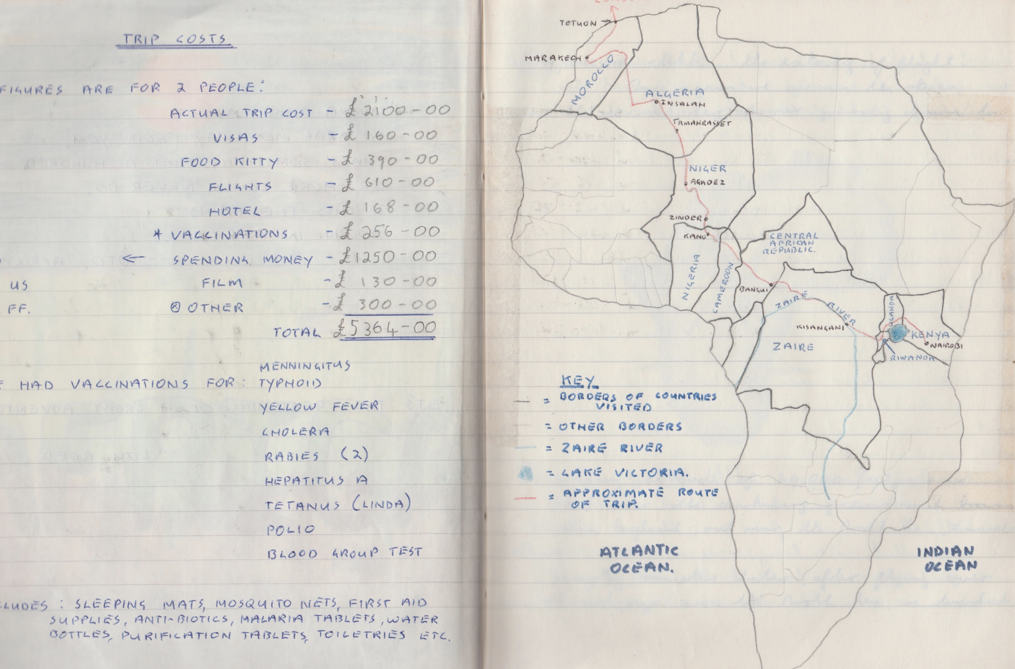 My travel diary from our four month African overland in 1989.
