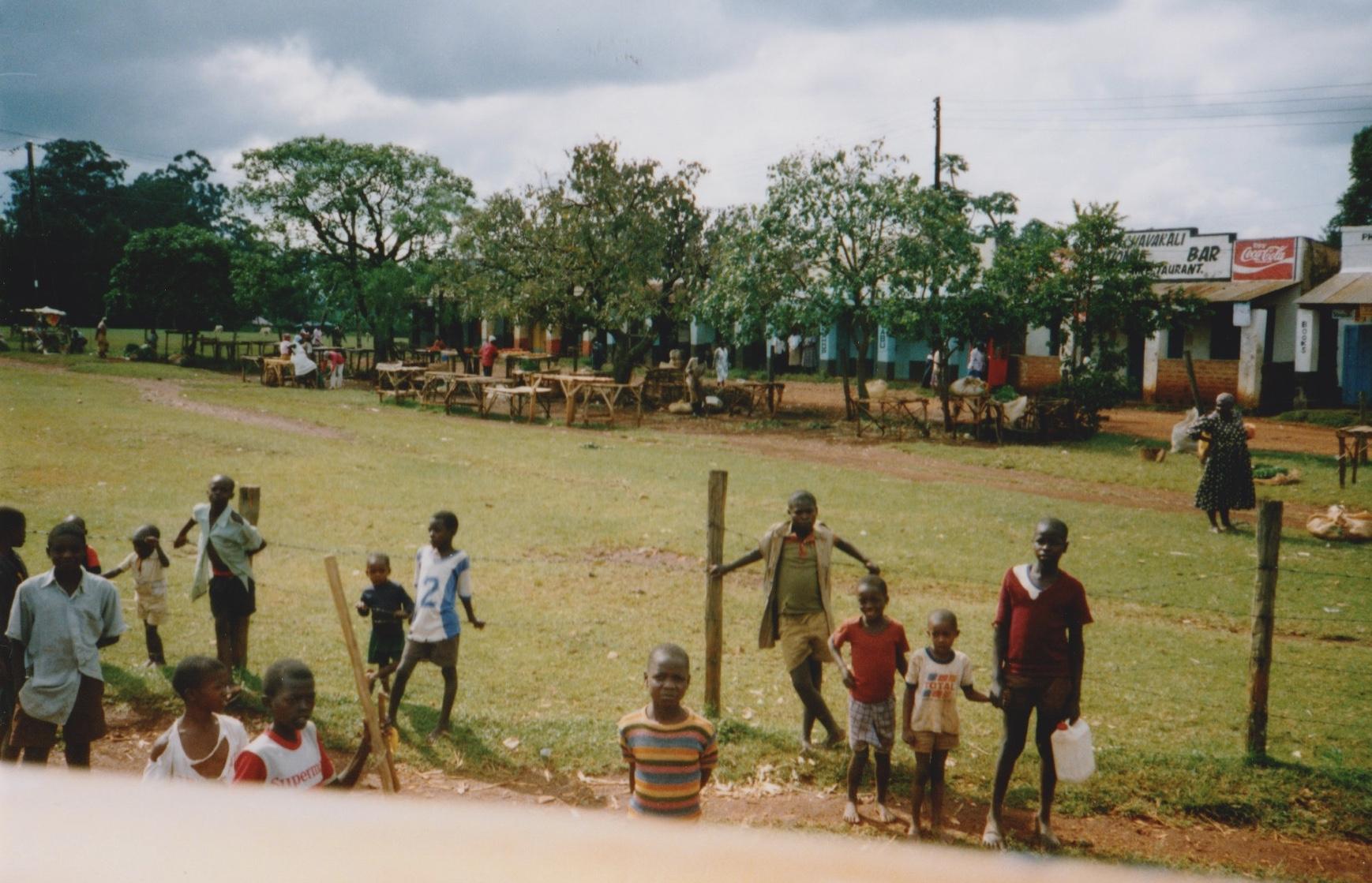 A roadside scene in Uganda.
