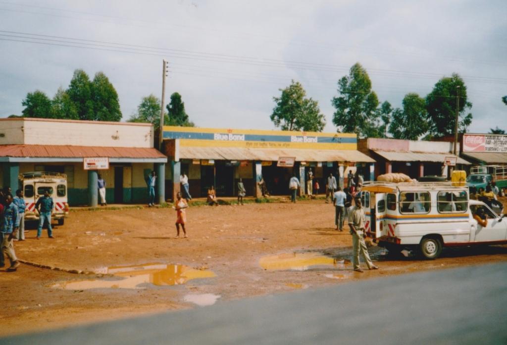 A street in rural Uganda.