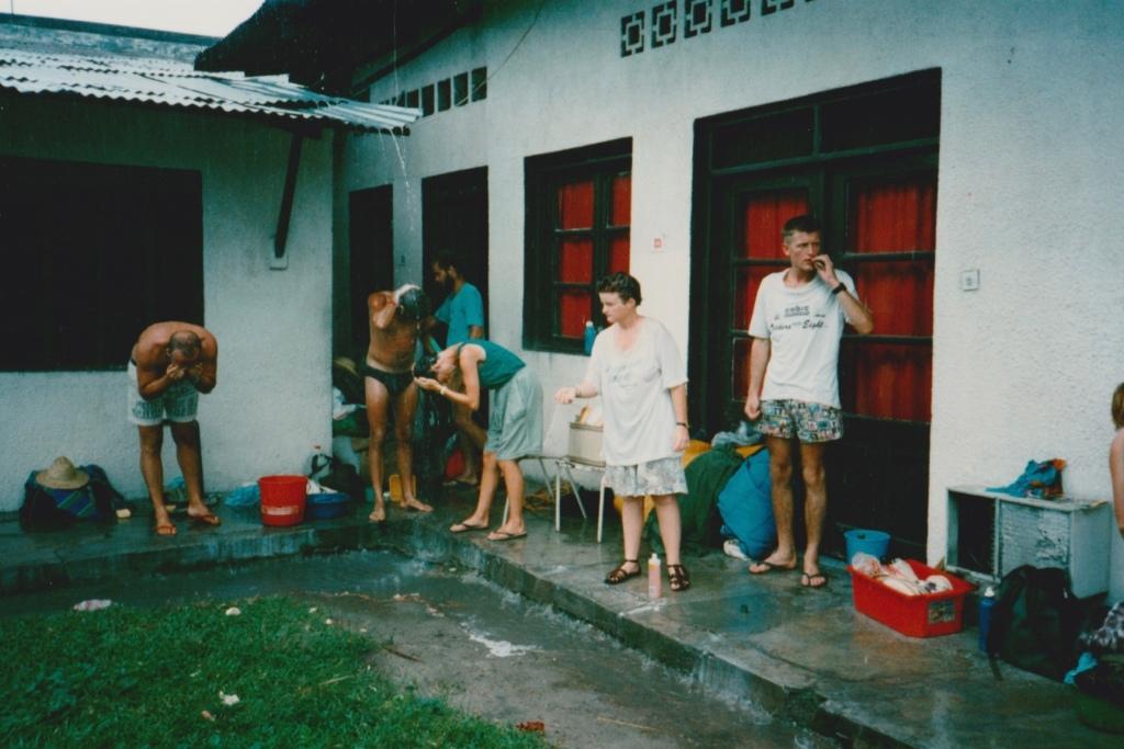 Rainwater showers, Bomba, Zaire.
