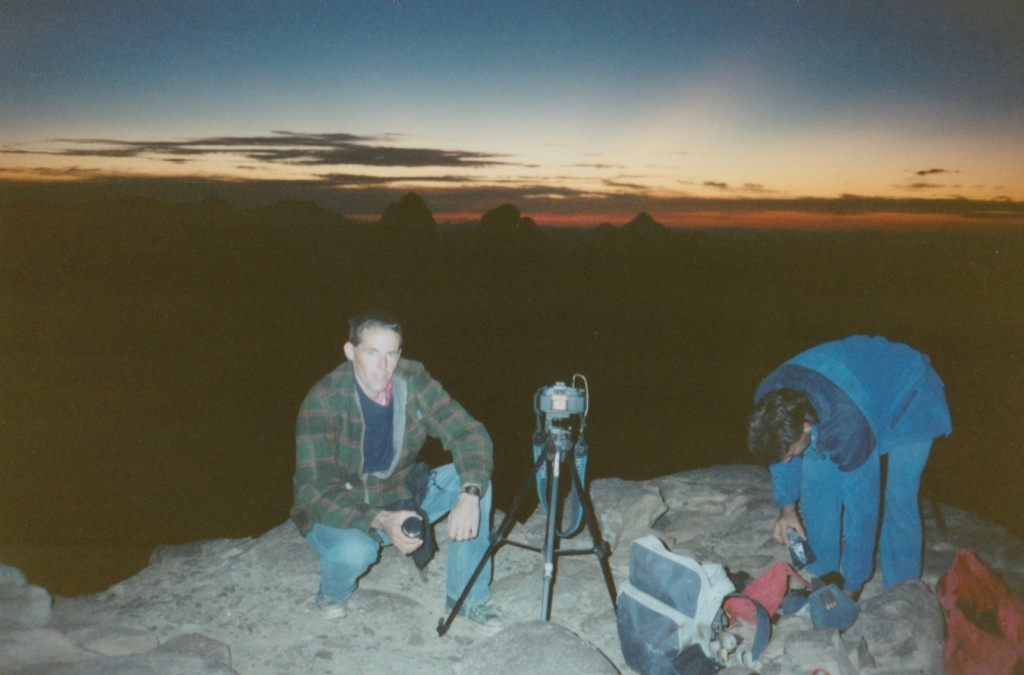 Waiting for sunrise, Hoggar Mountains, Algeria.