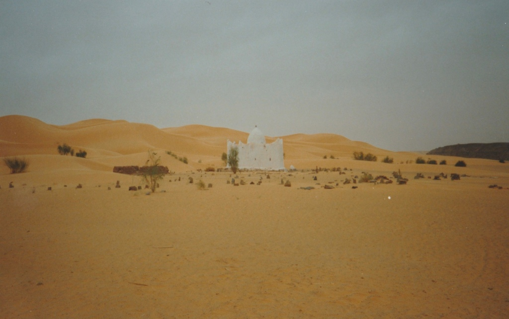 The shrine you must circle three times, Sahara Desert, Algeria.